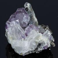 fluorit, kvarc